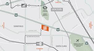 Sunnyvale Zip Code Map by Santa Clara Square Silicon Valley Lifestyle Lease Info