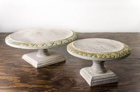 Wood Pedestal Stand Cake Stand Wood Pedestal Shabby Chic Amigo Party Rentals Inc
