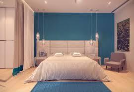 chambre bleu et blanc design interieur couleur peinture chambre bleu ciel tête lit