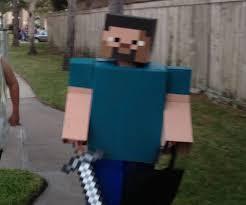 Steve Minecraft Halloween Costume Minecraft Steve Costume 8 Steps Pictures