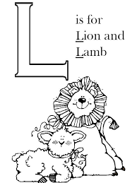 l is for the lion and the lamb christmas preschool art