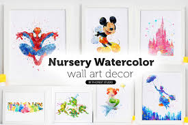 nursery wall decor watercolor art prints watercolor art shop nursery wall art disney poster