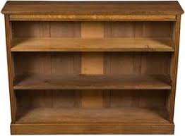 antique oak narrow open adjustable bookcase