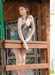 summer in wood bungalow stock photo image 55989853