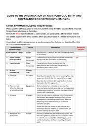 guidelines for primary teacher portfolios portfolio acer