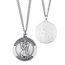 engrave your own necklace engravable christopher medal pendant in sterling silver 3