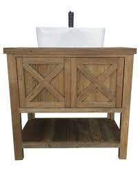 Reclaimed Wood Bathroom Brown Reclaimed Wood Vanity Little Board