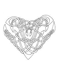 celtic heart coloring pages coloringstar