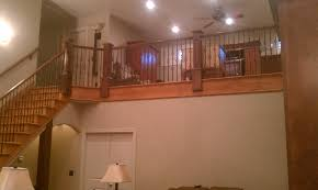 wood stairs and rails iron balusters handrail post stair in