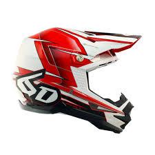 red motocross helmet 6d atr 1 sonic helmet red white sixstar racing