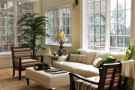 Sunroom Sofas Winsome Sunroom Furniture Come With L Shaped Black Stained Rattan
