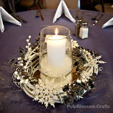 10 winter wedding centerpieces snowflake theme 70 00 via etsy