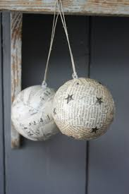 diy christmas ornaments like the ideaof using old music sheets