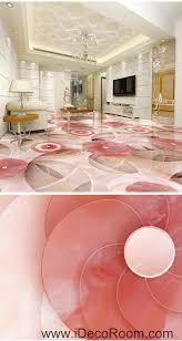 pink flower circle 00056 floor decals 3d wallpaper wall mural