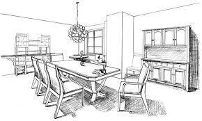 impressive dining table drawing marvelous how to draw a room 47