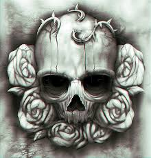 pictures drawings of skulls and roses drawing gallery