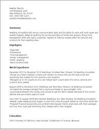 bridal consultant wedding consultant resume template best design tips
