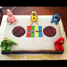yo gabba gabba birthday cake3d cards 13 best cakes images on jerry o connell tom and jerry