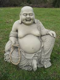 large jolly buddha garden ornament statue koi free shipping