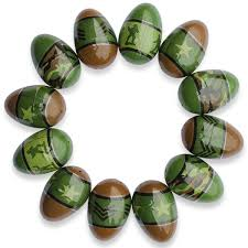 camouflage easter eggs set of 12 army men soldiers plastic easter eggs soldier