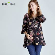 nursing top aliexpress buy green home chiffon floral maternity nursing