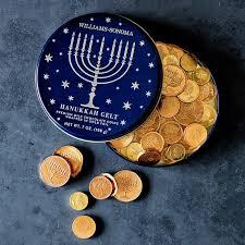 hanukkah chocolate coins hanukkah gelt williams sonoma 12 95 7 oz gift