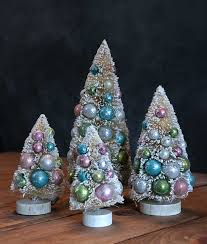 pastel bottle brush tree by bethany lowe the patch