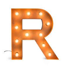 letter r with light bulb reallynicethings