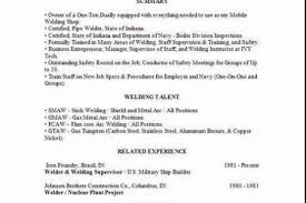 Welder Sample Resume by Welding Fabrication Resumes Reentrycorps