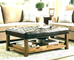 leather tray for coffee table table top ottoman espresso ottoman coffee table leather coffee