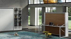 armoire bureau lit escamotable autoportant beddesk horizontal avec bureau