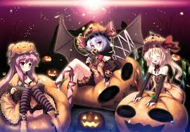 halloween chibi background anime wallpaper collection wallpapersafari