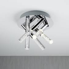 Flush Ceiling Lights For Bathroom Searchlight Lighting Bubbles 5 Light Bathroom Flush Ceiling