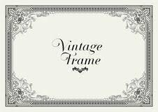 vintage ornament border decorative floral frame vector