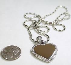 custom dog tag necklace silver tone cz bling iced out heart and bale custom dog tag necklace