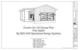 cabin garage plans g225 24 x 22 garage plan free house plan reviews
