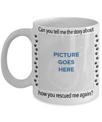 animal rescue mug with your photo