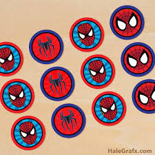 download free printable spiderman cupcake toppers