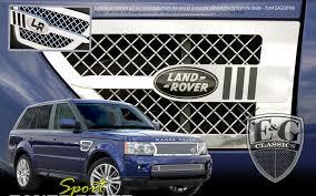 chrome land rover land rover range rover sport chrome mesh fender vent set 2010 2013