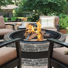 Fire Pit Poker by Sun Joe Charcoal Cast Stone Fire Pit With Dome Screen And Poker