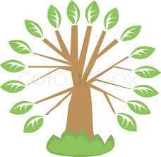 computer generated illustration with single tree stock vector