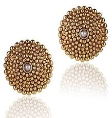 earrings for shining golden copper stud earrings for women