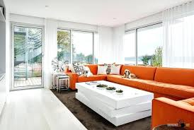Living Room With Orange Sofa Orange And White Living Room Orange Sofa Living Room Ideas Orange