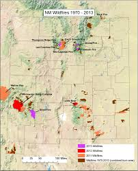 Wildfire Map Wildfire Impacts On Surface Water Quality In New Mexico Usa