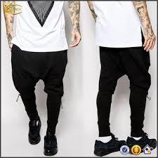 new design oversized shorts with rib meggings men black pants