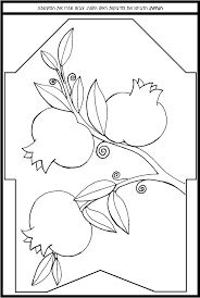 Pomegranate Clipart Colouring Page Pencil And In Color Rosh Hashanah Colouring Pages