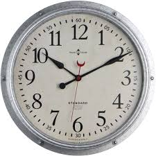 better homes and gardens galvanized wall clock walmart com
