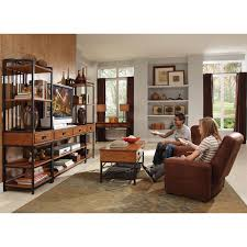Oak Furniture Modern Craftsman Oak Three Piece Gaming Entertainment Center Home