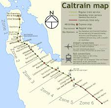 San Francisco Streetcar Map Caltrain Map Travel Pinterest West Coast
