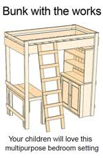 Plans For Loft Bed With Desk by 20 Free Loft Bed Plans How To Build A Loft Bed